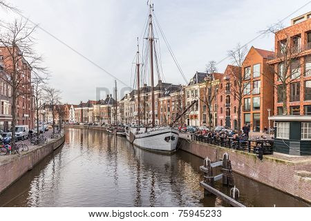 Groningen, Netherlands - March 20: Streets Of The Town, On March 20, 2014 In Groningen