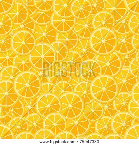 Seamless pattern chopped lemon