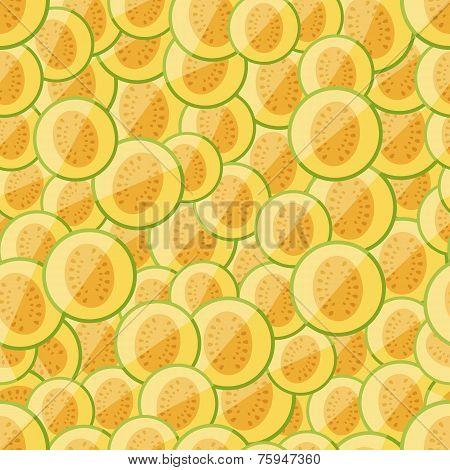 Seamless pattern chopped melon