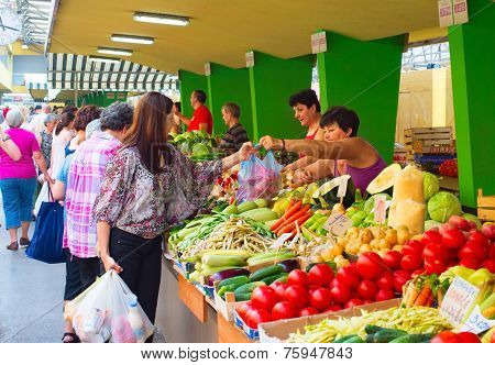 Food Market In Bosnia