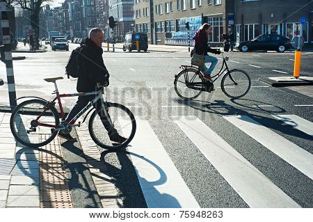 Cyclists Amsterdam