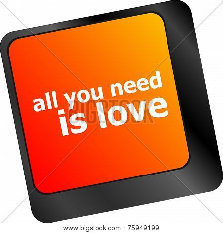 Computer Keyboard Key - All You Need Is Love