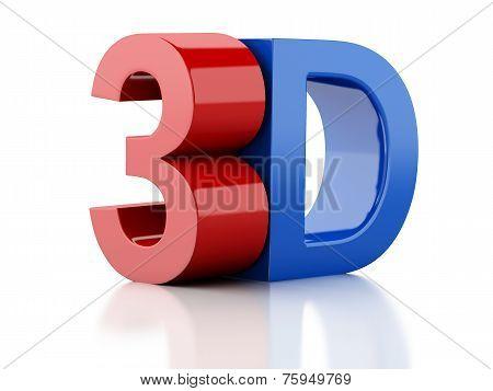 3D Logo. Cinema Concept
