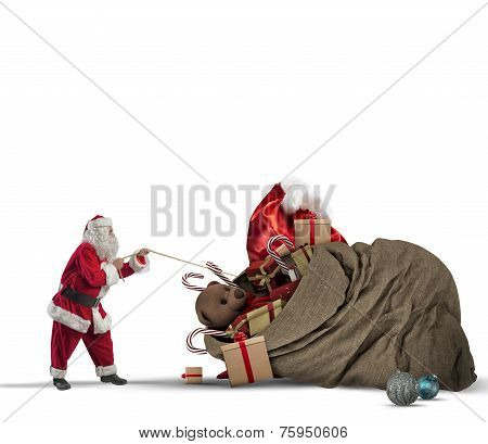 Gift Bag Of Santaclaus