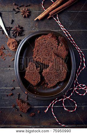 Polish spiced honey cake for Christmas