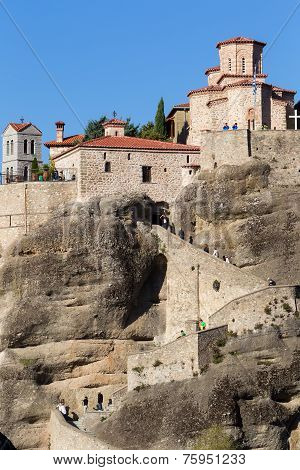 The Holy Monastery Of Great Meteoron, In Greece. This Is The Largest Of The Monasteries Located At M