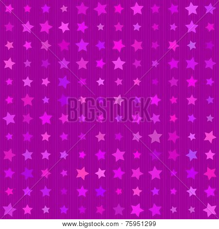 Abstract background Magenta color stars seamless texture