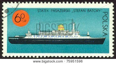 Vintage  Postage Stamp. Passenger Ship An
