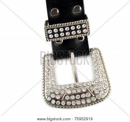 Diamond Leather Belt