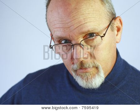 Man with glasses and goatee