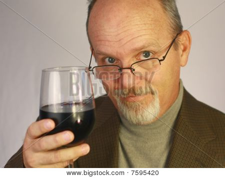Man with glass of wine