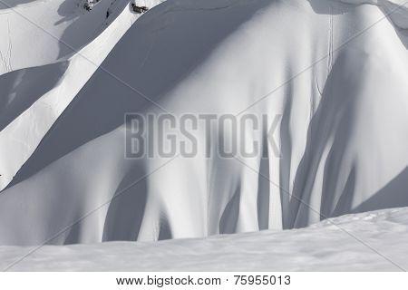 snowy winter mountain slope, Krasnaya Polyana, Russia