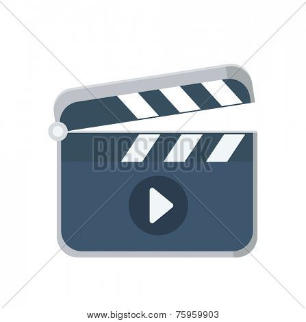 Clapboard flat icon, vector logo illustration