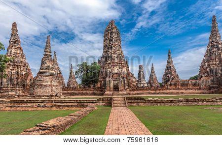 Old Temple wat Chaiwatthanaram of Ayuthaya Province( Ayutthaya Historical Park )Asia Thailand