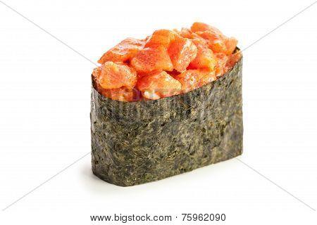 Spicy Maguro Gunkan Maki Sushi
