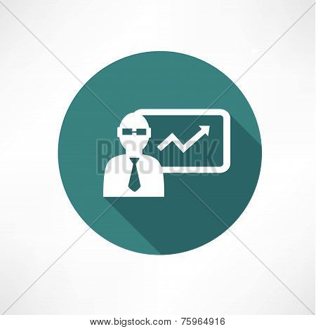 Businessman with graph icon