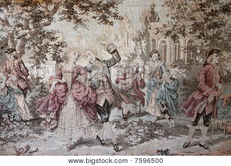 Pattern Of The Classical Vintage Tapestry