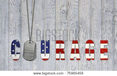 military dog tags for courage