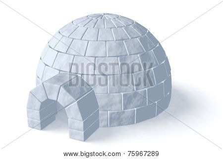 Igloo Icehouse On White