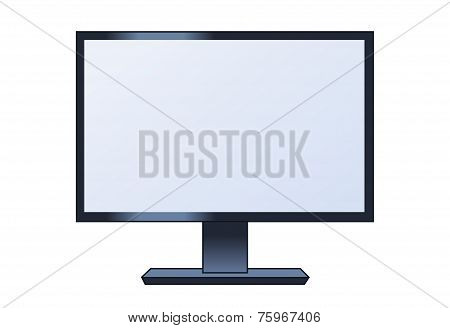 Illustration Of The Lcd Monitor