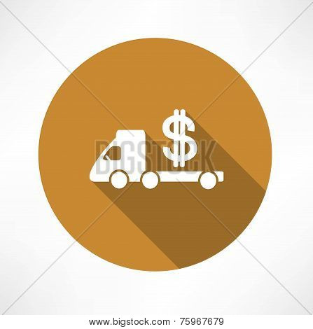 car truck with money icon
