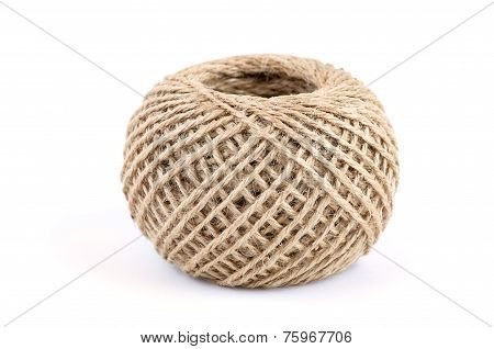 Clew Of Natural Rope (isolated)