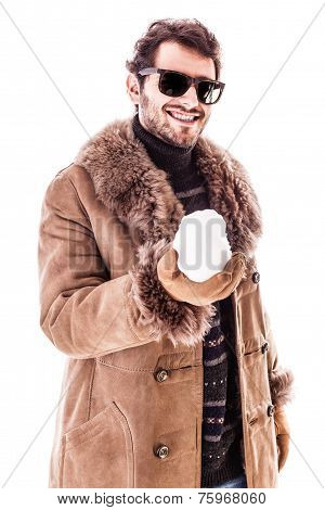 Holding A Snowball
