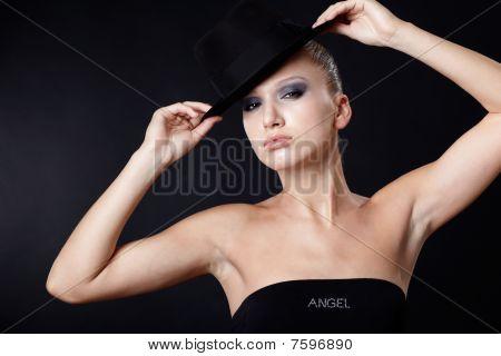 Beautiful Model In Hat