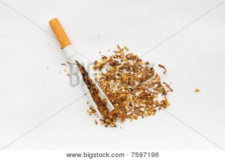 Broken sigarette