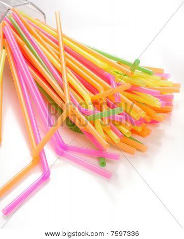 Tubules Multi-coloured For Drinks