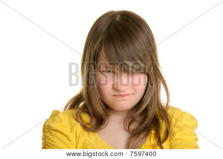 Offended And Dissatisfied Girl