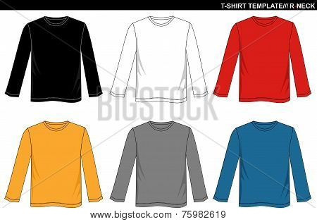 T Shirt Long Sleeve R-neck