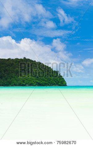 Hideaway Scene On a Sunny Beach