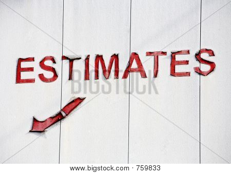 A Sign For Estimates
