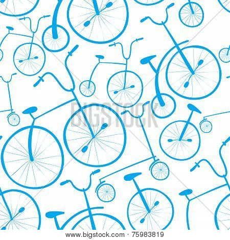 Seamless bicycles pattern.
