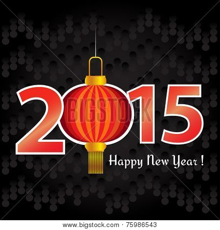 2015 Chinese New Year lantern greeting card or background.