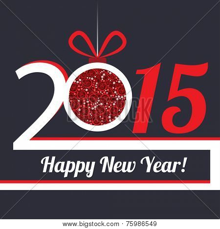 2015 Happy New Year greeting card or background.