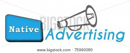Native Advertising Blue Triangle