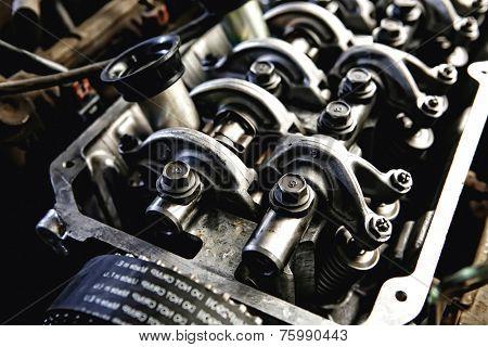 car engine inside view very close up