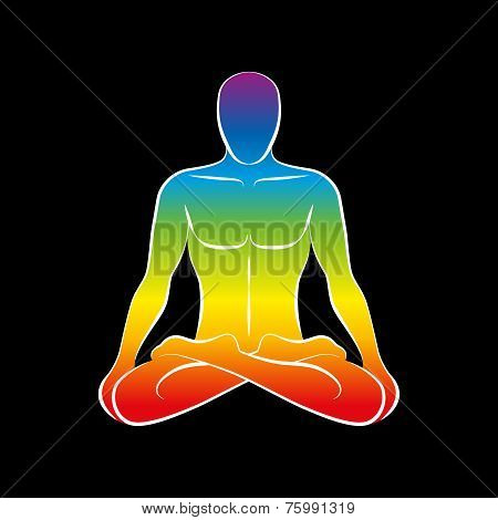 Man Body Soul Rainbow Black