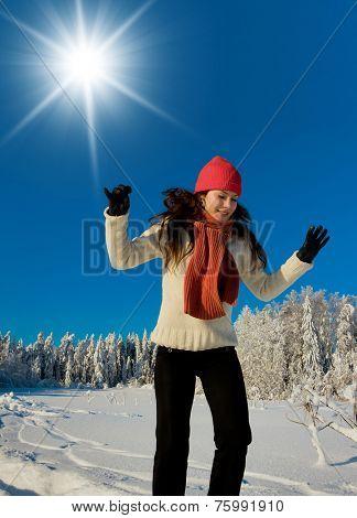 Midwinter Sunshine Happy Portrait