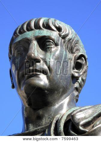 Roman Emperor Trajan statue