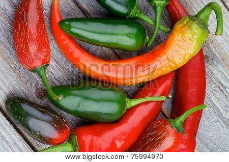Heap Of Chili Peppers