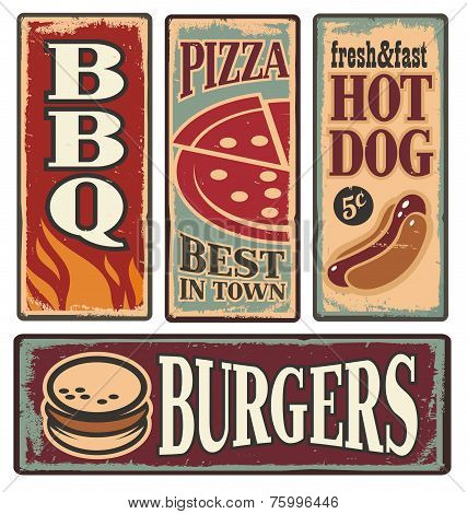 Food Tin Signs