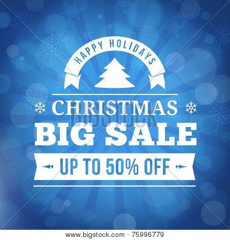 Christmas Big Sale Background
