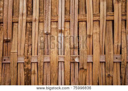 Bamboo weave pattern wall