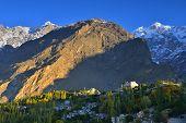 stock photo of karakoram  - beautiful Landscape of Hunza Valley in Autumn season - JPG