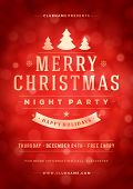 picture of christmas party  - Christmas night party poster or flyer vector illustration - JPG