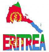 pic of eritrea  - Eritrea map flag and text vector illustration - JPG