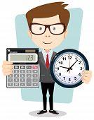 stock photo of productivity  - Conceptual vector figure illustration - JPG